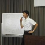 川嵜の研修会講師風景1